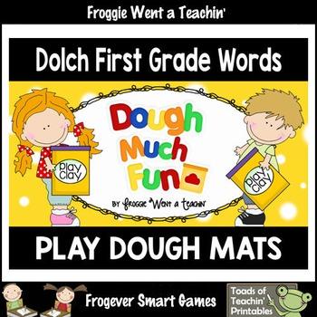 Play Dough Sight Words--Dolch First Grade Play Dough Mats
