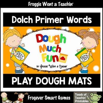 "Play Dough Sight Words--Dolch Primer Play Dough Mats ""Doug"