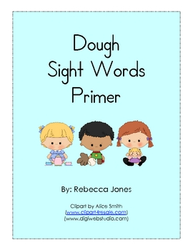 Play Dough Sight Words Primer