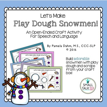 Play Dough Snowmen: An Open-Ended Craft Activity for Speec