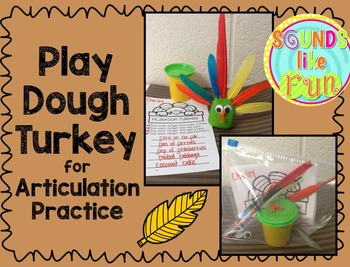 Play Dough Turkey for Articulation Practice