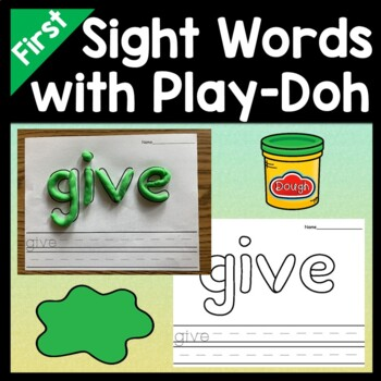 Sight Words First Grade with Play-Doh {41 words!}