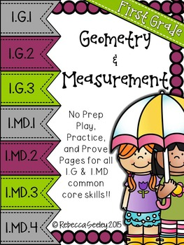 Play-Practice-Prove! First Grade Common Core: Geometry and