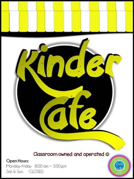 Play Restaurant Menu- For use in your classroom kitchen! (