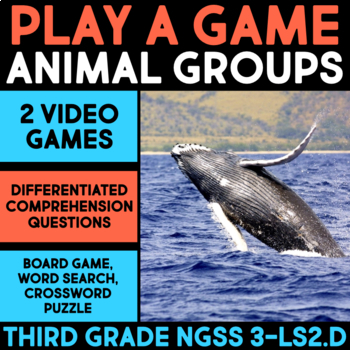 Play Video Games about Animal Group Behavior & Interactions