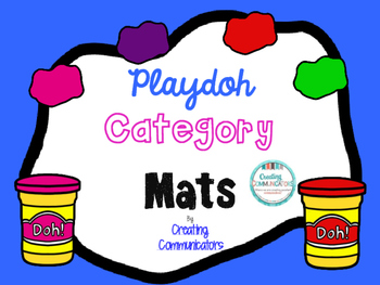 Play-doh Category Mats