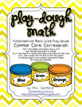 Play-dough Math- Common Core- Math Activities