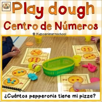 Play dough Math Workstations-Numeros 1-10-Cuantos peperoni