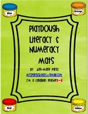 Play dough literacy and numeracy mats