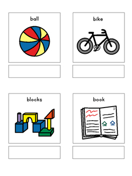Play items - matching book, flash cards and more!!
