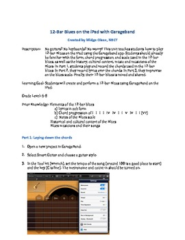 Play the 12-Bar Blues on an iPad Unit Lessons