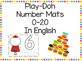 Playdough Number Mats in English 0-20