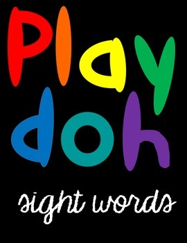 Playdoh Sight Words