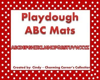 Playdough ABC Mats