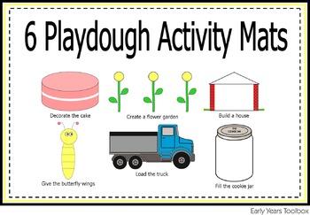 Playdough Activity Mats Bundle for Preschoolers