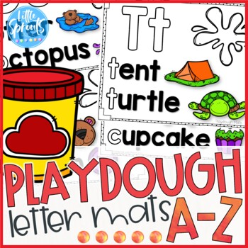Playdough Letter Mats - A-Z Letter Printables - PreK, Kind