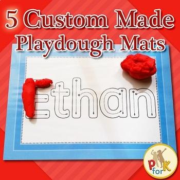 Name activity - Custom made Playdough Mats
