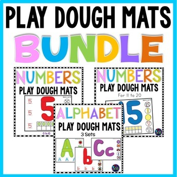 Alphabet and Numbers Playdough Mats Bundle