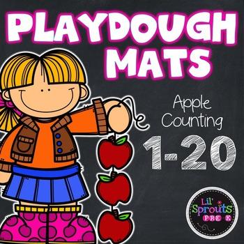 Playdough Mats - Apple Counting