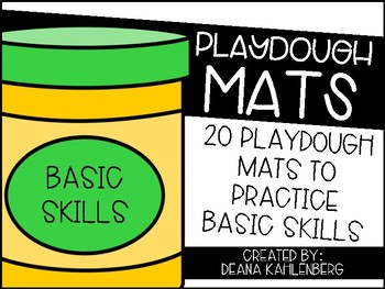 Playdough Mats {Basic Skills}
