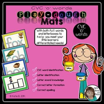 Playdough Mats - CVC 'o' Words