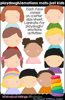 Playdough Mats~Emotion Mats Just Kids Clipart Collection