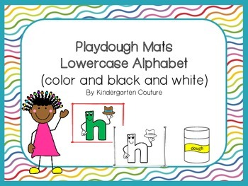 Dough Mats - Lowercase alphabet in color and black and white