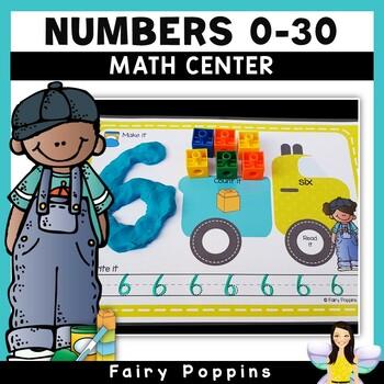 Playdough Mats Numbers (0-30) - Truck Theme
