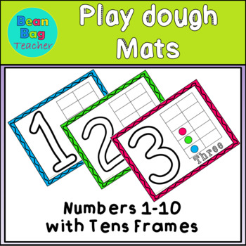Playdough Mats - Numbers 1-10 With Tens Frames