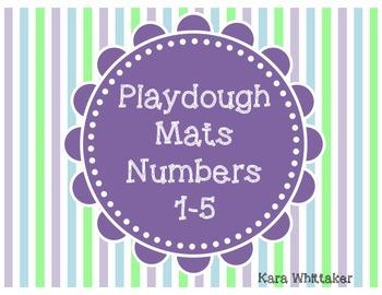 Playdough Mats Numbers 1-5