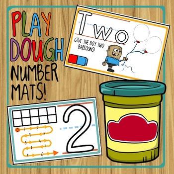 Playdough Number Mats -- Numbers 0 - 10!