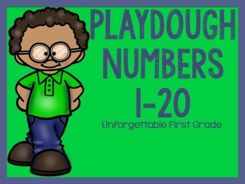 Playdough Numbers 1-20 {Freebie}