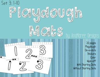 Playdough Pack Numbers 1-10