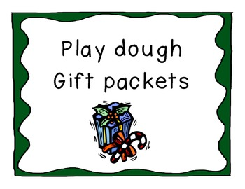 Playdough Packs for Student Gifts