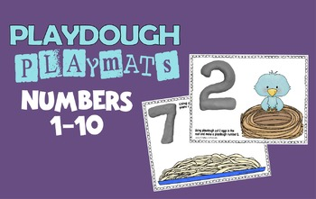 Playdough Playmats with Numbers 1-10