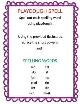 Playdough Spelling