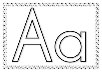 Playdough alphabet mats lower and upper case