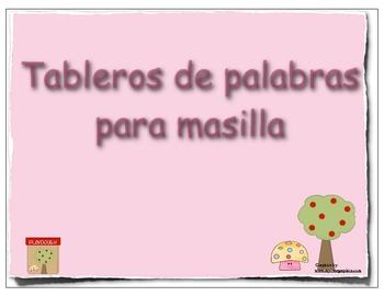 Playdough mats in Spanish