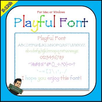 EE Playful Font Keyboard