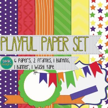 Digital Paper and Frame Set- Playful