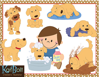 Playful Puppy, Dog Clip-Art