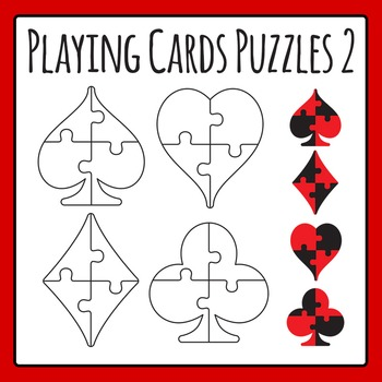 Playing Card Jigsaw Puzzles Clip Art for Commercial Use 2