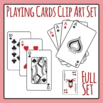 Playing Cards Full Deck Clip Art Pack for Commercial Use