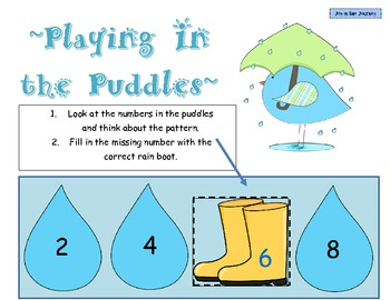 """""""Playing in the Puddles"""" Skip Counting Task Cards"""