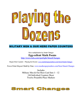 Playing the Dozen Military Men & Our Hero Paper Counters f