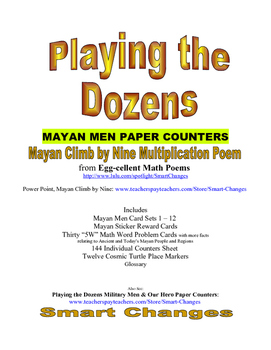 Playing the Dozens Maya Men Paper Counters for Multiplication