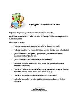 Playing the Interpretation Game:  A Formative Assessment