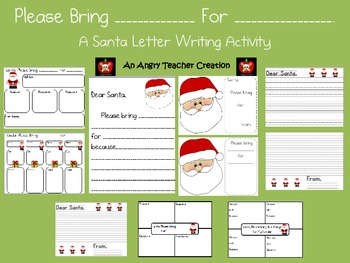 A Santa Letter Writing Activity. Please bring ______ for _
