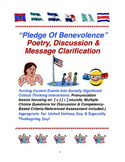 """Pledge Of Benevolence"" Poetry, Discussion & Message Clari"