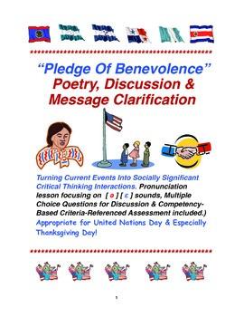 """Pledge Of Benevolence"" Poetry, Discussion & Message Clari"